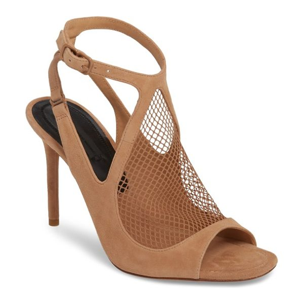ALEXANDER WANG piper fishnet sandal in nude - A stiletto sandal looks sultry and sensational with a...