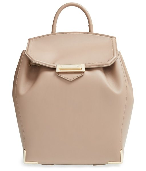 Alexander Wang Prisma leather backpack in sand - Supple leather shapes an opulent signature backpack...