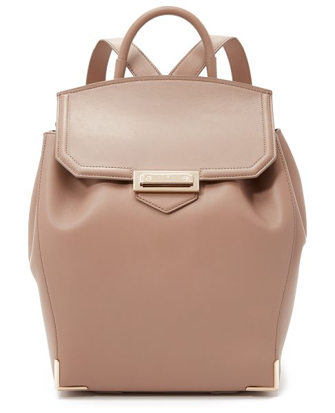Alexander Wang Prisma skeletal backpack in sand - A rich leather Alexander Wang backpack with polished...