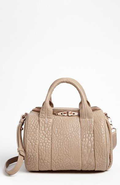 Alexander Wang Rockie in latte - Ripple-grained lambskin lends opulent finish to a...