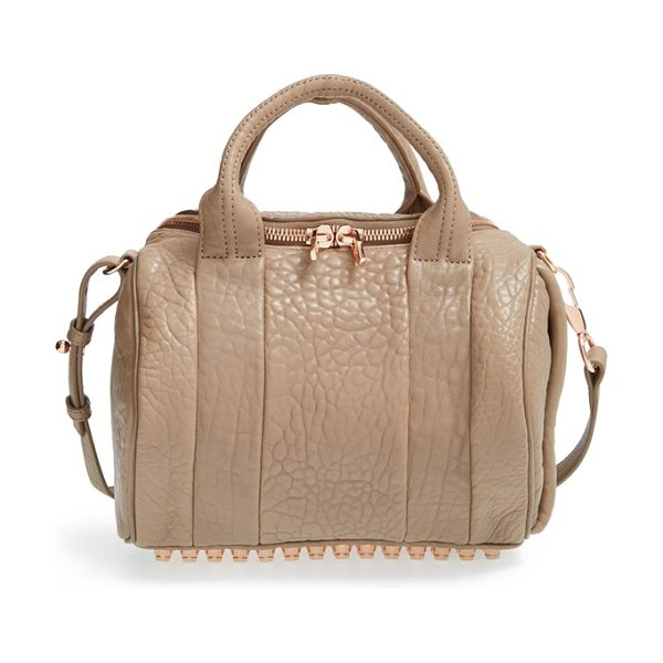 ALEXANDER WANG Rockie - Grained lambskin leather lends opulent texture to a...