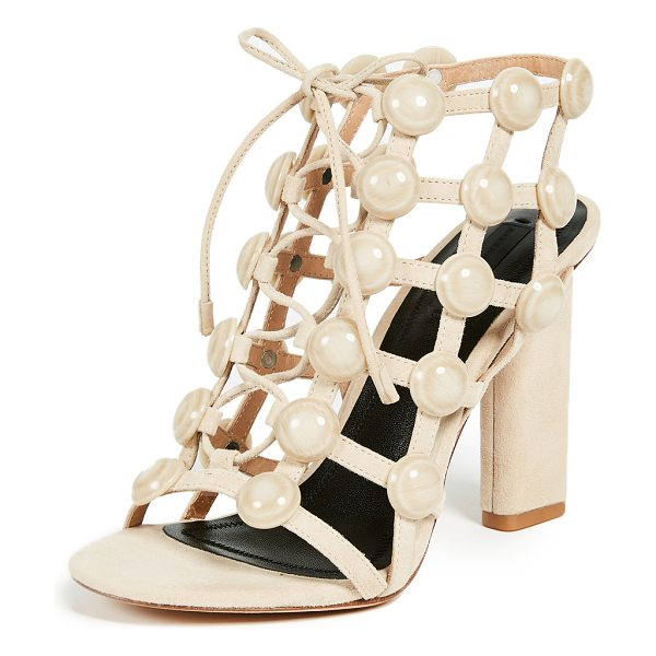 ALEXANDER WANG rubie cage sandals - Leather: Calfskin Strappy silhouette Chunky heel Lace-up...