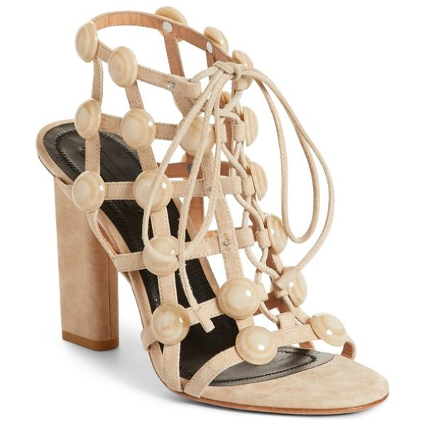 Alexander Wang rubie studded sandal in cashmere - Gleaming dome studs bring eye-catching dimension, while...