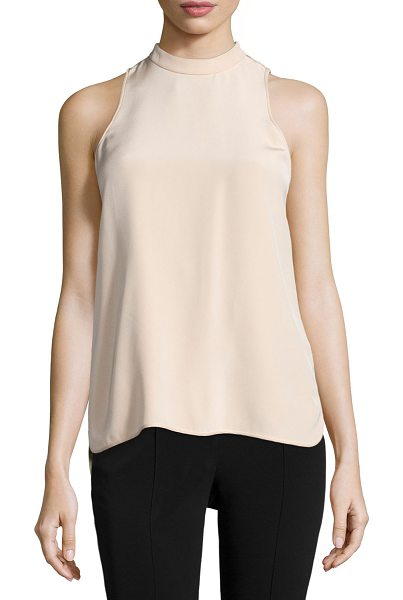 ALEXANDER WANG Sleeveless Mock-Neck Back-Ties Blouse - Alexander Wang crepe blouse. Mock neckline; racerback...