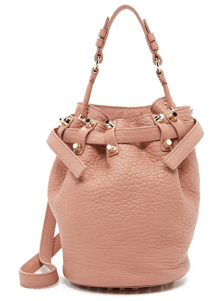 Alexander Wang Small diego bucket bag in blush - Tactile leather composes this signature Alexander Wang...