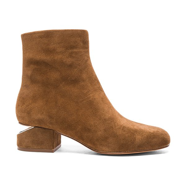 Alexander Wang Suede Kelly Boots in brown - Suede upper with leather sole.  Made in China.  Shaft...