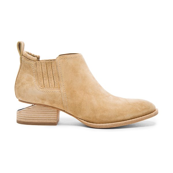 ALEXANDER WANG Suede Kori Booties in hemp - Suede upper with leather sole. Made in China. Approx...