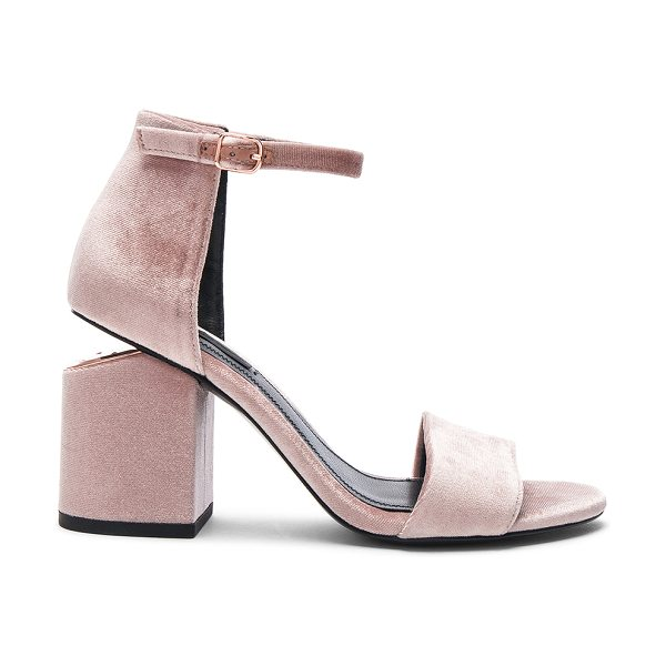 Alexander Wang Velvet Abby Sandals in pink - Velvet upper with leather sole.  Made in China.  Approx...