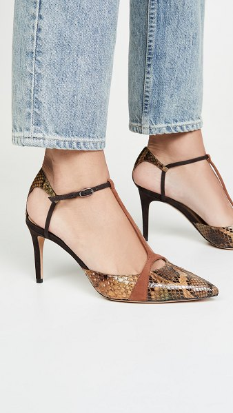 Alexandre Birman anitta closet toe 85mm pumps in multi/cognac/testa di moro