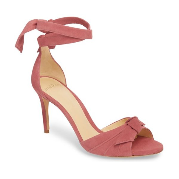 Alexandre Birman clarita ankle tie sandal in dusty rose - Extended ankle ties maximize the stylish look of a kid...