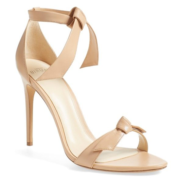 Alexandre Birman 'clarita' ankle tie sandal in nude leather - An easy, elegant ankle tie tops a minimalist sandal...