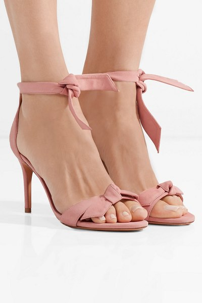 Alexandre Birman clarita bow-embellished suede sandals in baby pink - EXCLUSIVE AT NET-A-PORTER.COM. Alexandre Birman's...