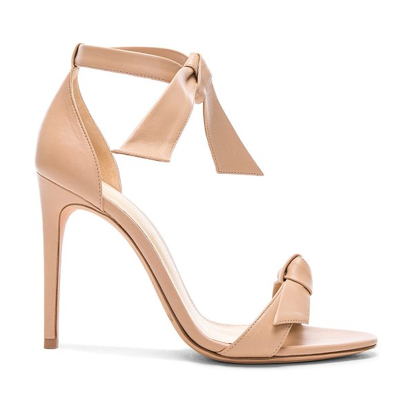 ALEXANDRE BIRMAN Leather Clarita Sandals - Leather upper and sole.  Made in Brazil.  Approx 100mm/...