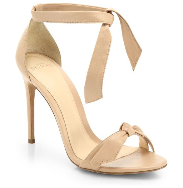 Alexandre Birman Clarita leather ankle-tie sandals in nude - Effortless tie straps and a slender stiletto heel...