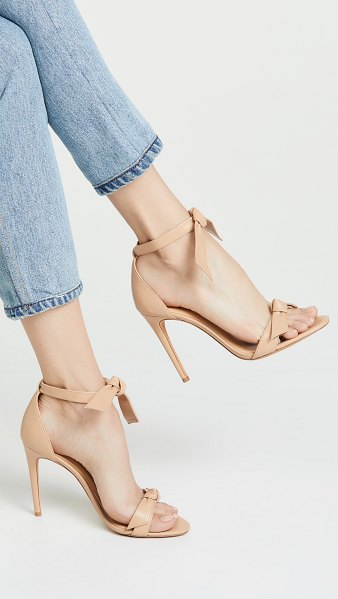 Alexandre Birman clarita sandals in nude - Leather: Kidskin Knot detail Strappy silhouette Stiletto...