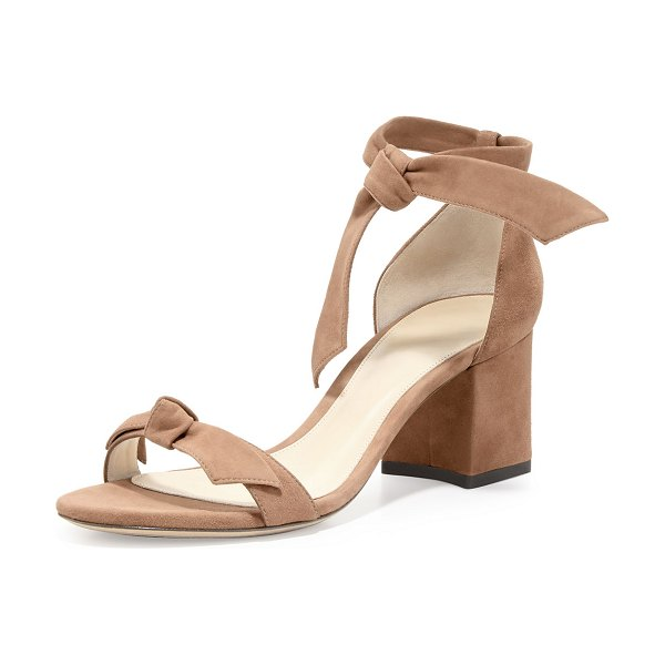 Alexandre Birman Clarita Suede Block-Heel Sandals in neutral