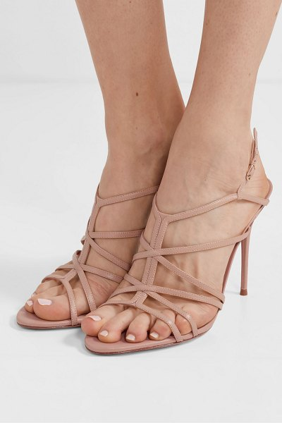 Alexandre Birman emma cage leather sandals in sand
