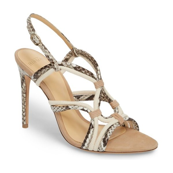 ALEXANDRE BIRMAN giovanna genuine python sandal in natural - Straps made from genuine python and braided natural cord...