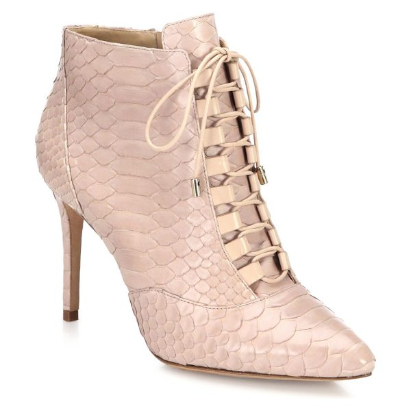 ALEXANDRE BIRMAN Mally python lace-up booties - Victorian-style lace-up bootie in luxe python. Self...
