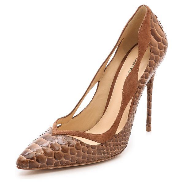 Alexandre Birman Python pumps in sunset beige/beige - These striking Alexandre Birman python pumps make a luxe...