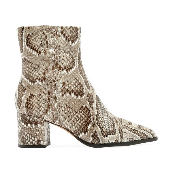 Alexandre Birman rachel python ankle boots in natural