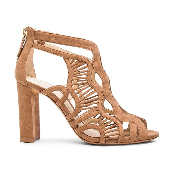 Alexandre Birman Suede Georgia Heels in neutrals - Suede upper with leather sole.  Made in Brazil.  Approx...