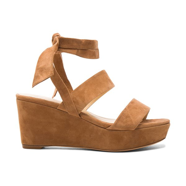 Alexandre Birman Suede Luma Wedges in brown - Suede upper with leather sole.  Made in Brazil.  Approx...
