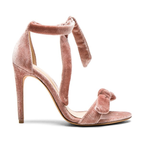 Alexandre Birman Velvet Clarita Heels in pink - Velvet upper with leather sole.  Made in Brazil.  Approx...