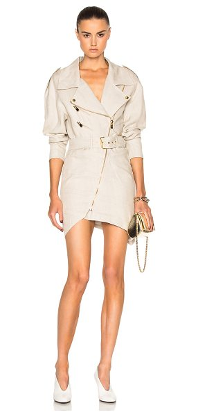 ALEXANDRE VAUTHIER Belted Linen Dress - Self: 100% linenLining: 75% viscose 25% poly. Made in...