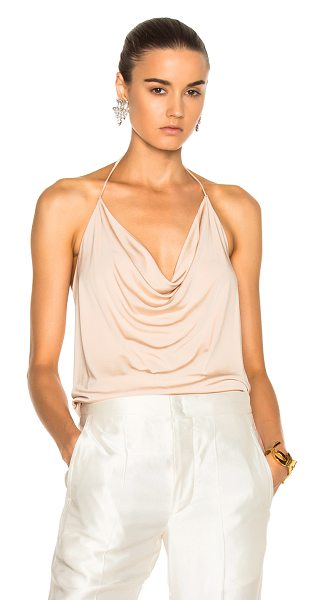 ALEXANDRE VAUTHIER Stretch Jersey Halter Top - 100% viscose. Made in EU. Dry clean only. Draped...