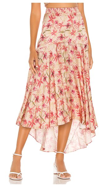 Alexis bazli skirt in wild orchid rose