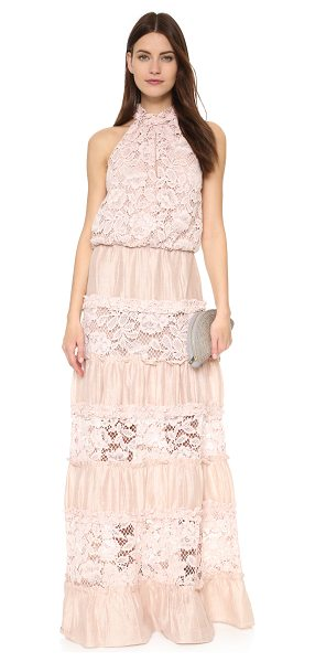 Alexis Benette long dress in blush - A romantic Alexis maxi dress pairs classic lace with...
