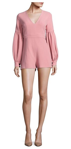 ALEXIS benn blouson sleeve romper in ash pink - Chic romper updated with modern blouson sleeves. Deep...