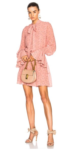 Alexis Elizavetta Dress in pink,floral - Self: 100% viscose - Lining: 100% poly.  Made in China. ...