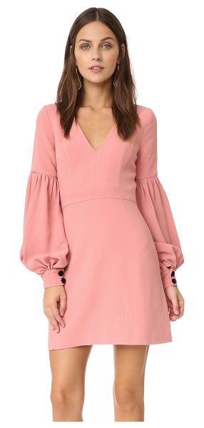 Alexis ellena dress in ash pink - Topstitched seams detail this Alexis mini dress, and the...