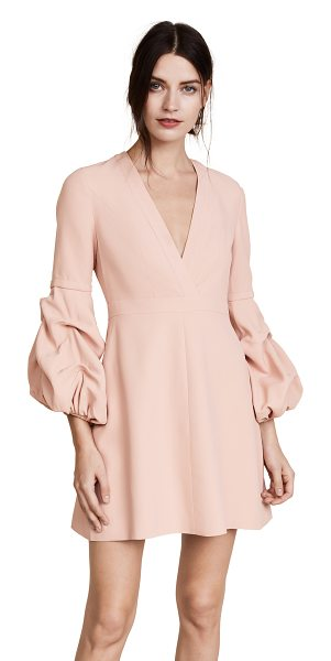 Alexis fia dress in blush - Ruffled puff sleeves add a hint of drama to this elegant...