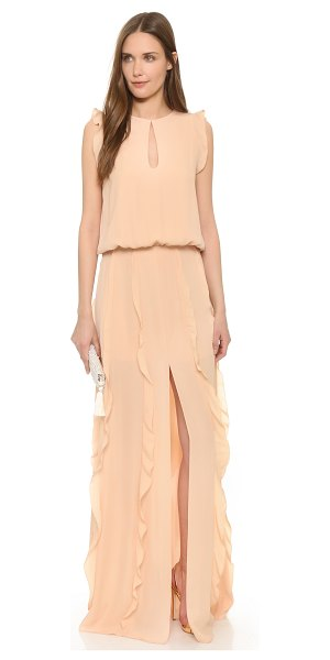 ALEXIS Frances ruffled maxi dress in blush - Picot edged ruffles bring a graceful feel to this...