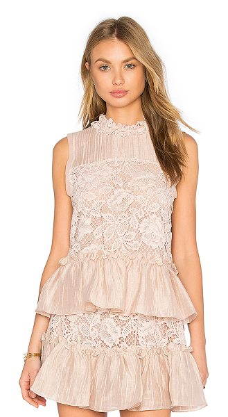 Alexis Gracilia top in blush - Self: 55.4% cotton 23% nylon 21.6% rayonContrast: 64%...