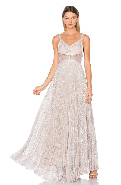 Alexis Isabella Gown in silver blush - Light as air as you glide through the partygoers. The...