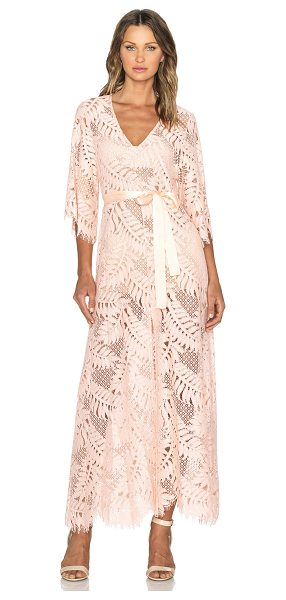 Alexis Keven maxi dress in pink - Shell: 65.6% cotton 21.7% nylon 12.7% rayonLining: 60%...