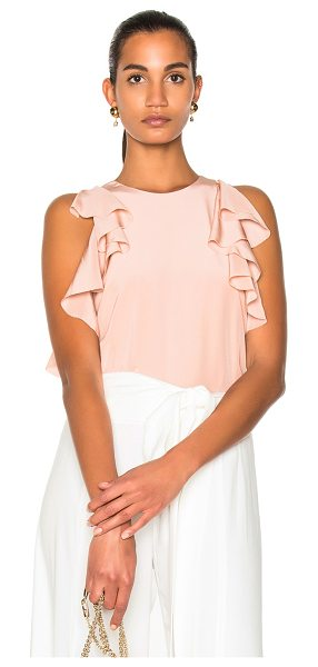 Alexis Lachlan Top in pink - Self: 100% silk - Lining: 100% poly.  Made in China. ...