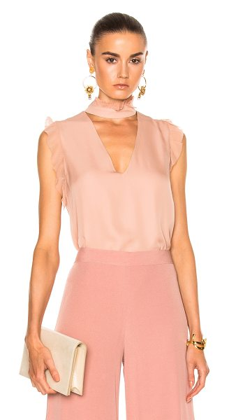 Alexis Lilibeth Top in rose - Self & Contrast Fabric: 100% silkLining: 95% poly 5%...