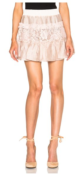 Alexis Mallory Skirt in pink - Self: 55.4% cotton 23% nylon 21.6% rayon - Contrast...