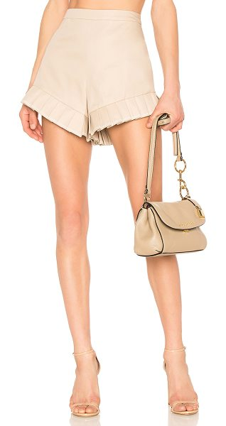 """Alexis Martens Shorts in neutral - """"Tailored with tightly pleated ruffles at the hem, the..."""