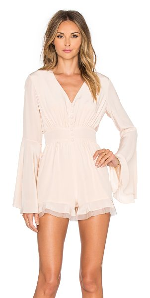 Alexis Martine Romper in blush - Self: 100% polyCombo: 100% silk. Dry clean only. Partial...