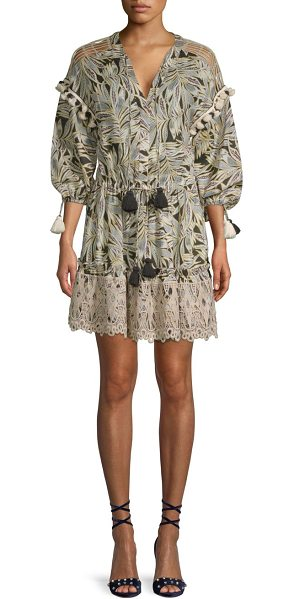 Alexis persia tunic dress in dark safari
