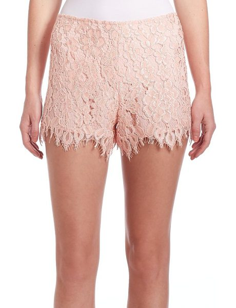Alexis Pia lace shorts in blush - EXCLUSIVELY AT SAKS FIFTH AVENUEColor-pop hue defines...