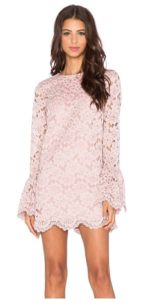 Alexis Rustam lace shift dress in pink - Self: 63.4% nylon 36.6% polyLining: 100% poly. Dry clean...