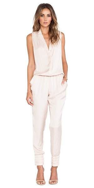 Alexis Saint thomas jumpsuit in blush - 100% poly. Dry clean only. Front button closure....