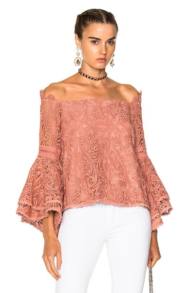 Alexis Thea Top in blush - Self: 100% polyLining: 95% poly 5% spandex. Made in...